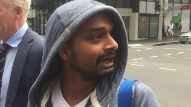 Pardeep Lohan outside court, where he was charged with people trafficking.