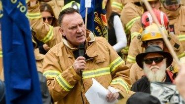 United Firefighters Union secretary Peter Marshall.