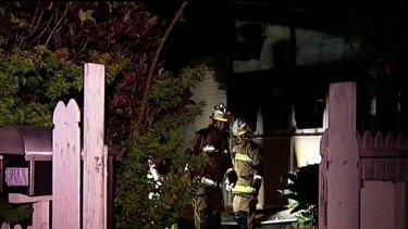The fire badly damaged an Aspley home overnight.