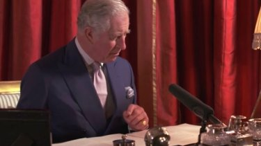 Prince Charles reads his Christmas Thought for the Day for the BBC.