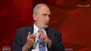 American biologist Dr Paul Ehrlich on Q&A.