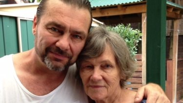 A recent photo of Anthony Caristo (pictured on the left next to his mother) supplied by the Caristo family.