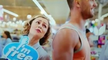 """An image from the Coles """"I'm free"""" ad."""