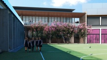 An artist's impression of St Catherine's School's development.