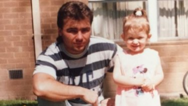 Anthony Caristo in 1994 with his daughter, Carley, who is now 27. The photo was supplied by his family.