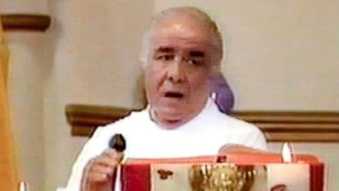 Father Anthony Bongiorno was seen covered in blood on the day of Maria James' murder.