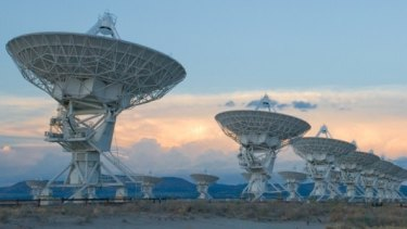 The Very Large Array radio telescope in New Mexico, which was used to detect the radio bursts.