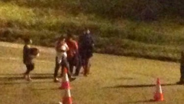 A baby is moved back from Melbourne to Nauru detention centre in the early hours of Thursday.