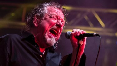 Robert Plant on stage: ''I'm singin' all right.''