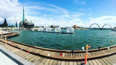 The opening celebrations at Elizabeth Quay will continue for three weeks until February 21.