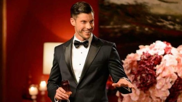 'So if you could all start wearing name tags, that would really help me out': Sam Wood on the set of <i>The Bachelor</i>.