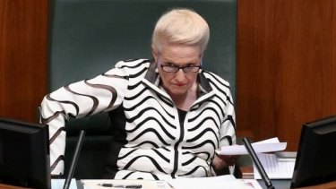 """Speaker Bronwyn Bishop says: """"I have to say I'll be repaying all expenses related to weddings, which while technically in the rules just doesn't look right."""""""
