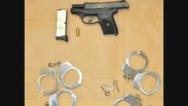 Items police said Neal Falls had in his car when he answered the woman's ad.