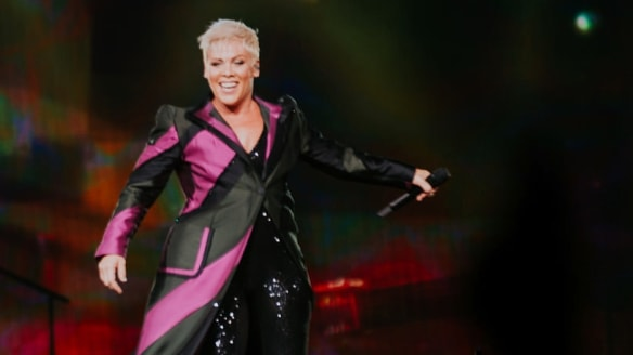 P!NK barely breaks a sweat in athletic stadium spectacular