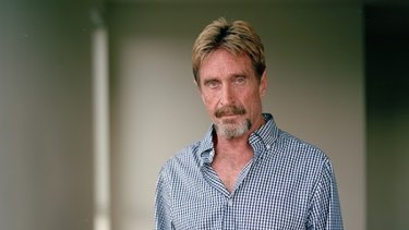 John McAfee is coming to Australia in September.