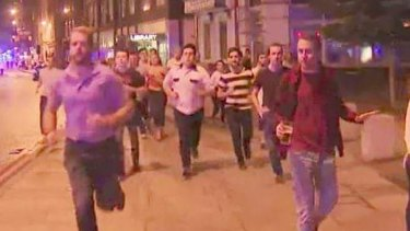 People fleeing from the latest terror attack in London.