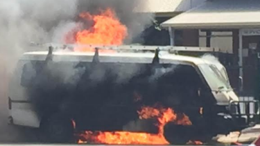 Firefighters were called to deal with a van on fire on Vincent Street, Leederville, on Saturday morning.