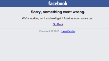 Facebook falls over on Tuesday morning.