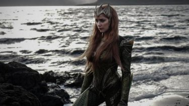 Amber Heard, seen here in character, will return to the Gold Coast to film <i>Aquaman</i>.