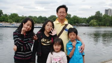 Matthew Ng and his children Megan, 12, Isabella, 13, Alexandra, 5, and Hugo, 8. Isabella is from a previous relationship and died of anorexia-related complications in January 2013. Ng was not told of her death for two years.