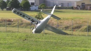 """A light plane had a """"heavy landing"""" at Archerfield Airport on Wednesday, February 18."""