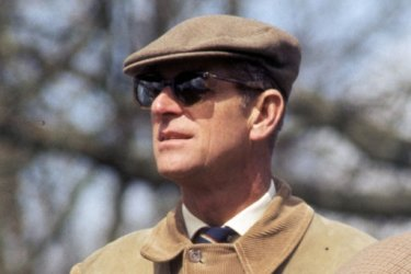 Prince Philip on April 16, 1977 in Badminton,  England.
