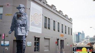 Black ANZAC, Hego mural.