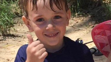 Connor Irvin, 7, died after he fell off a quad bike.