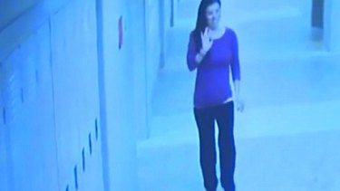 Colleen Ritzer waves moments before she was killed.