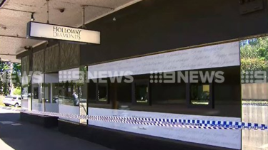 Police tape around a Canterbury jewellery store after it was robbed on Thursday last week.