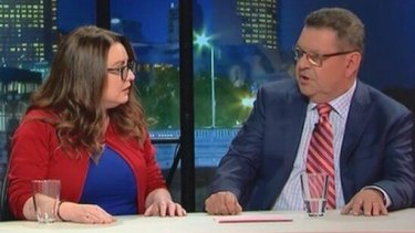 Steve Price (right) and Van Badham on <i>Q&A</i>.