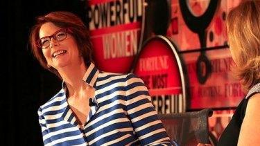 Julia Gillard at the Most Powerful Women summit.