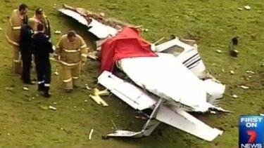The crash scene at Millbrook.