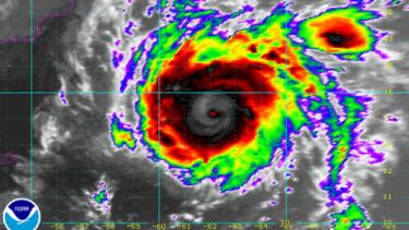 Cyclone Chapala as it headed across the Arabian Sea.