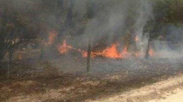 A bushfire is bearing down on parts of Brunswick.