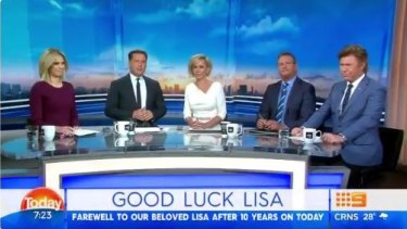 Today Show hosts react to Lisa Wilkinson's departure.