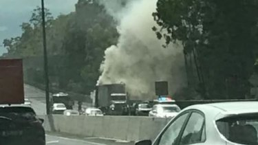 A truck fire at Mount Coot-tha caused traffic delays and closed the Legacy Way tunnel.
