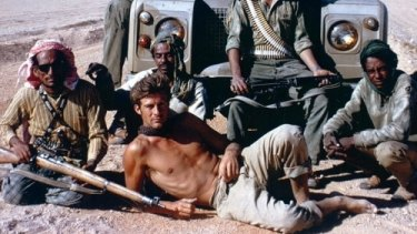 Sir Ranulph Fiennes working in the army of the Sultan of Oman in the late 1960s.