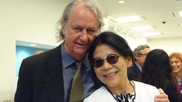 Sheri Yan and her husband Roger Uren, a former assistant director-general at the Office of National Assessments.