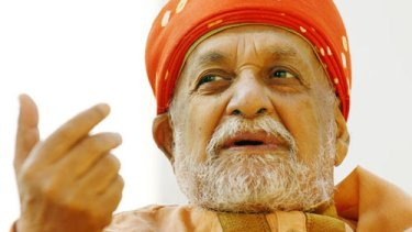 """Worshipped like a saint"": Swami Satyananda Saraswati, the yoga organisation's founder, who died in 2009."