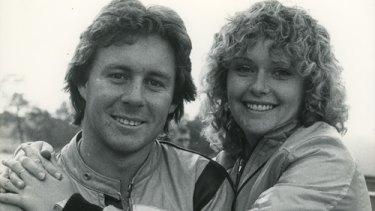 Wayne Gardner and his his Wollongong sweetheart Donna Forbes.