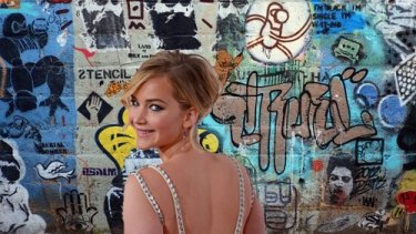 Jennifer Lawrence in Blenders Lane (digital composite)
