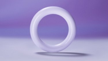 The self-inserted temperature sensor Bloom Ring connects to a fertility app.