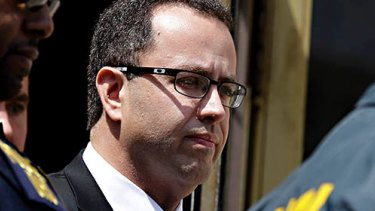 The former face of Subway, Jared Fogle, leaves the Federal Courthouse in Indianapolis in August.