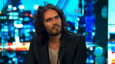 Russell Brand brought his eccentric political commentary to The Project on Friday.