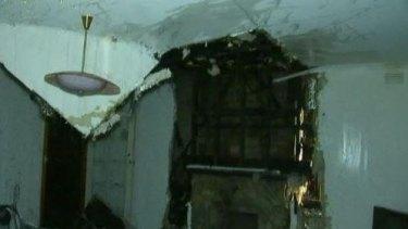 Damage inside the Ringwood home.