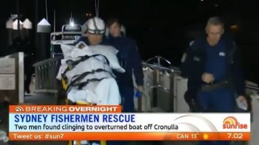 Both of the fisherman were suffering from hypothermia after spending almost five hours in freezing water.