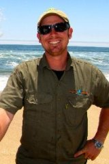 Naude Dreyer, owner of Pelican Point Kayaking, saved the dolphin.