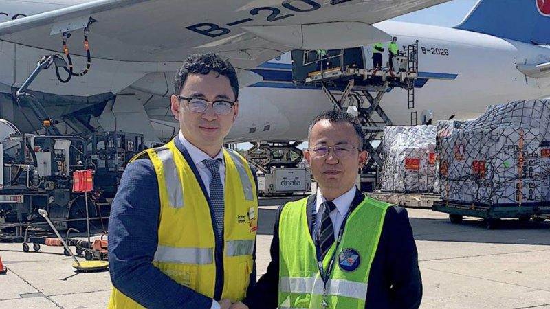 Second developer flies 82 tonnes of medical supplies to China