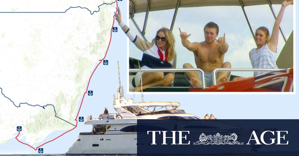 Melbourne magnate sails away from face masks and lockdown – The Age